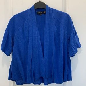 Ted Baker Cropped Blue Cardigan Size 1